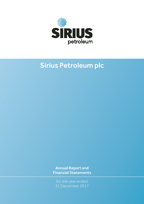 Sirius Petroleum Plc   annual report