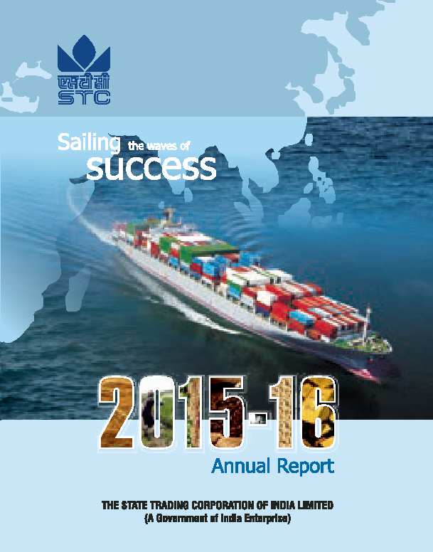 State Trading Corporation of India   annual report