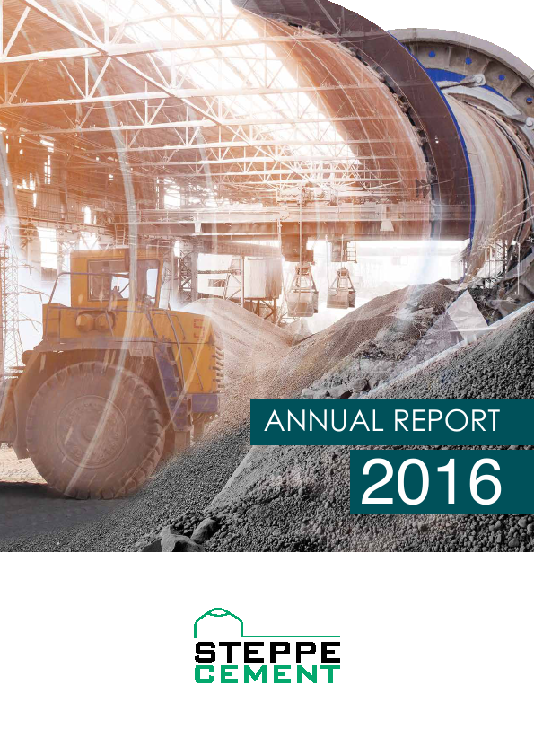 Steppe Cement   annual report