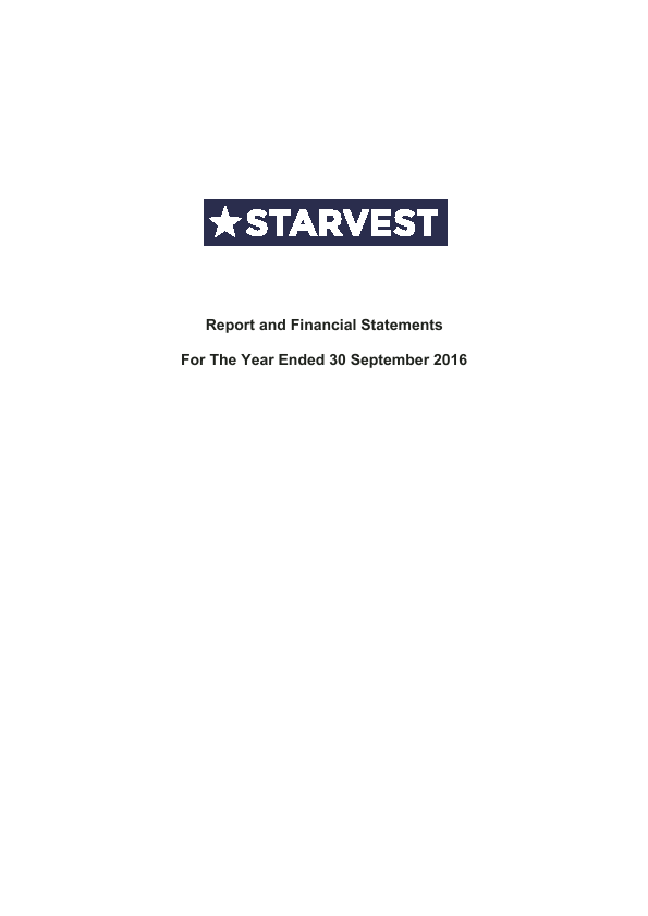 Starvest   annual report
