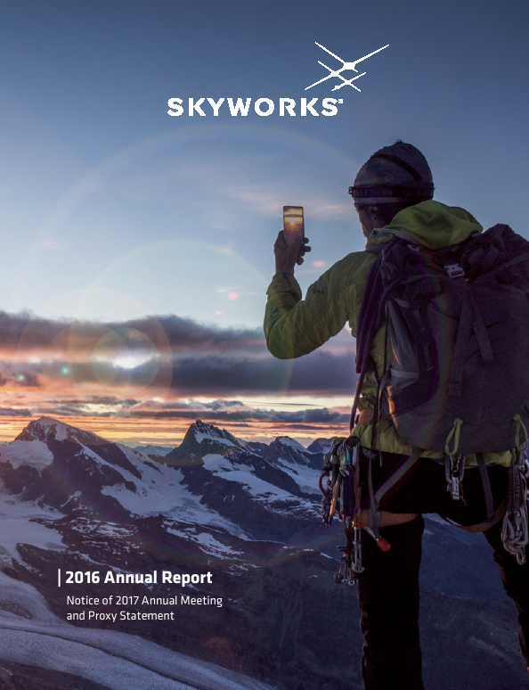 Skyworks Solutions, Inc.   annual report