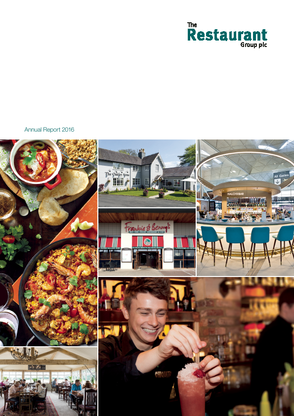 Restaurant Group Plc   annual report