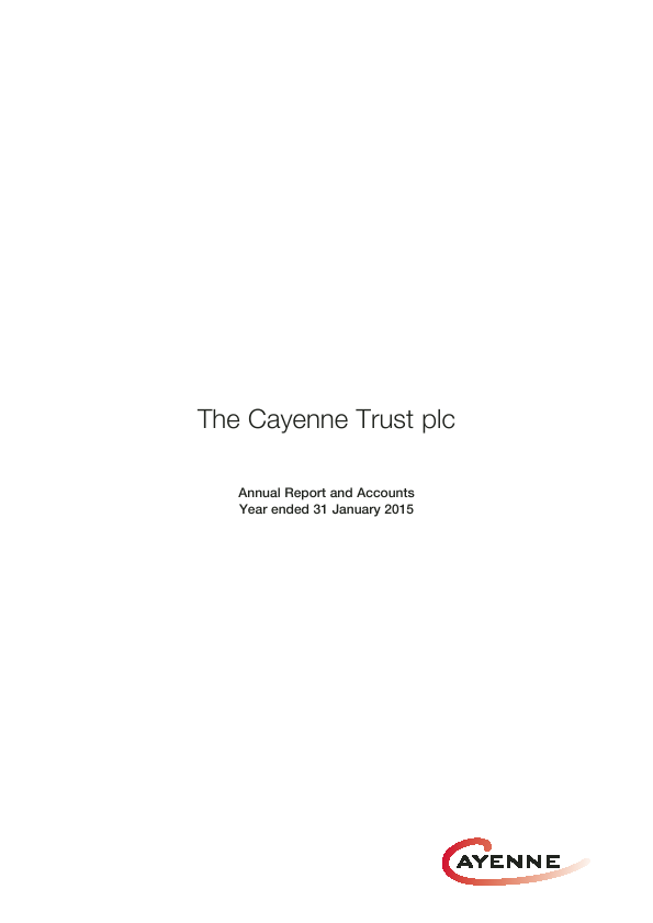 Cayenne Trust(The)   annual report