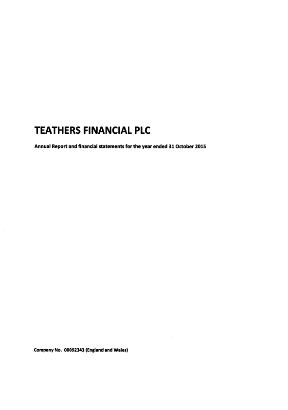 Teathers Financial Plc (formally CA Sperati)   annual report