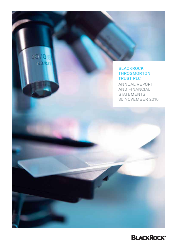Blackrock Throgmorton Trust Plc   annual report