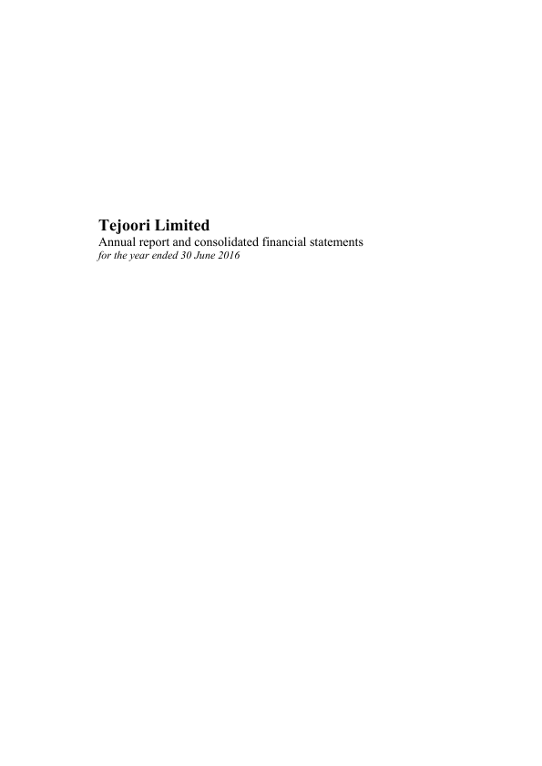 Tejoori   annual report