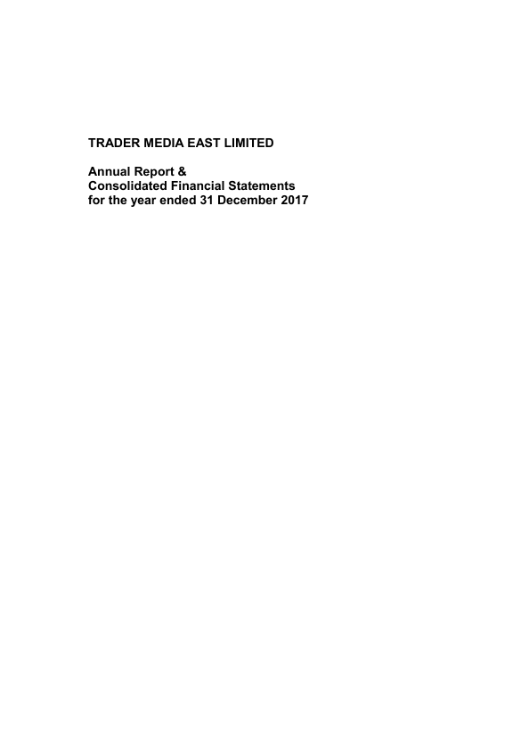 Trader Media East   annual report