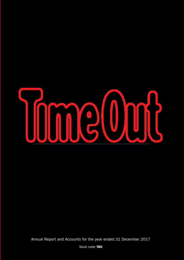 Time Out Group   annual report