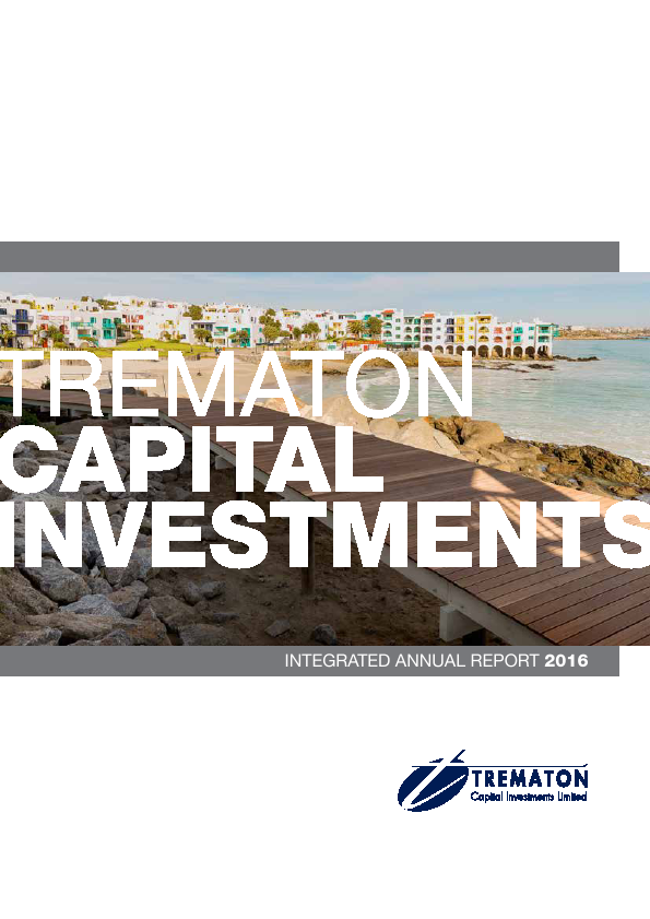 Trematon Capital Investments   annual report
