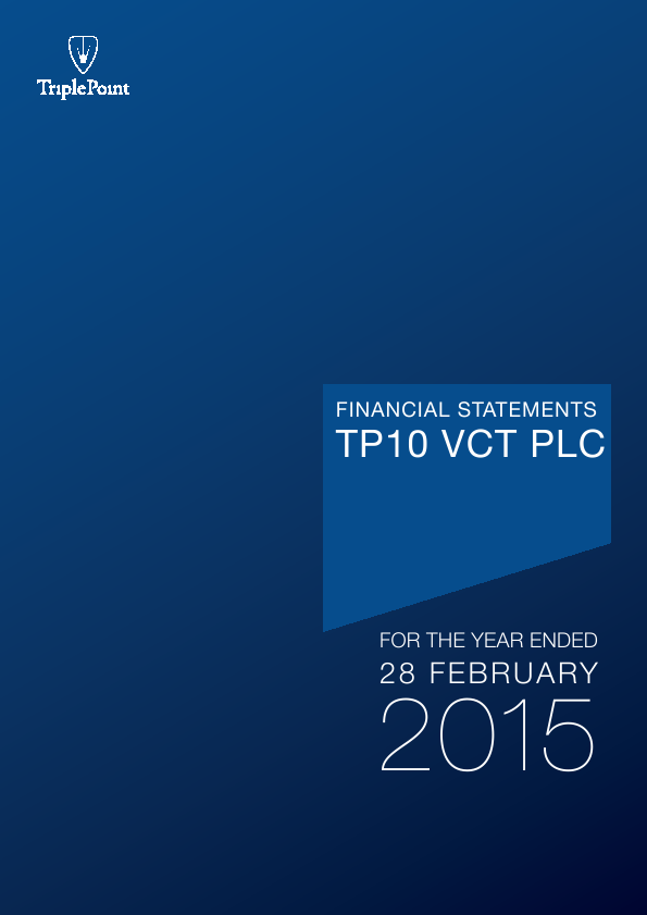 TP10 VCT Plc   annual report