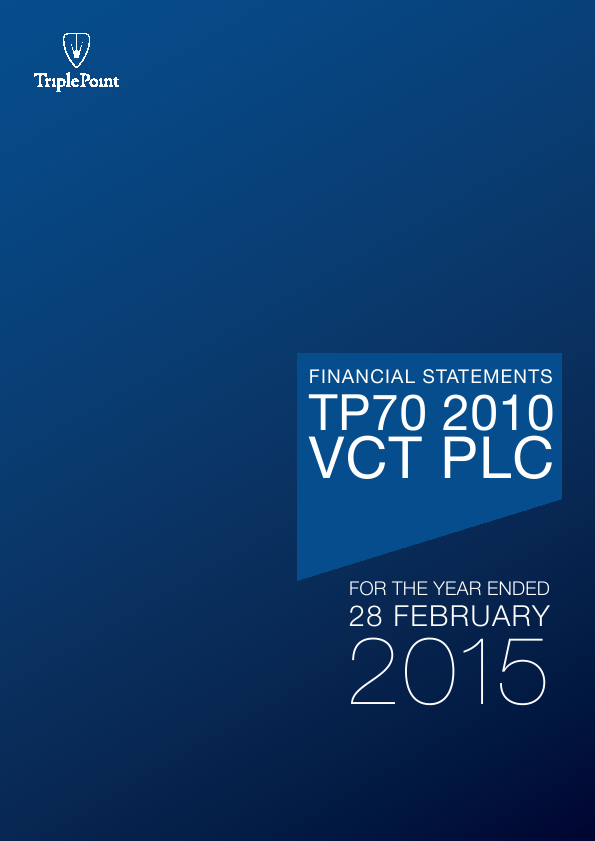 TP70 2010 VCT Plc   annual report