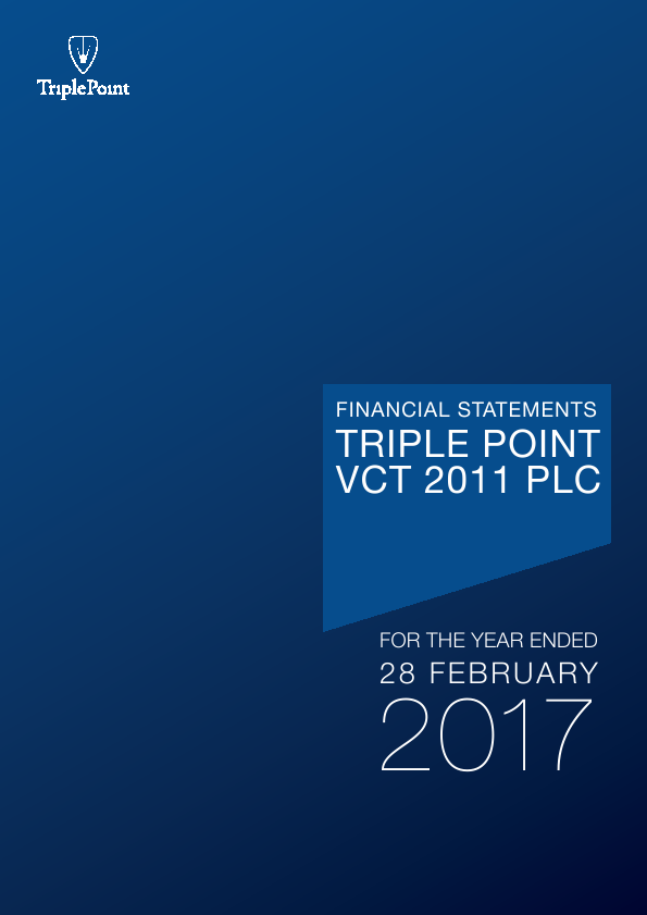 Triple Point VCT 2011 Plc   annual report