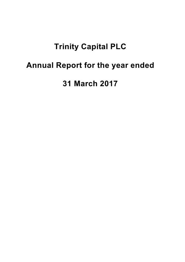 Trinity Capital Plc   annual report