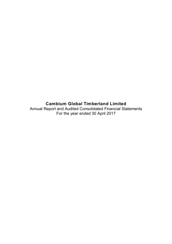Cambium Global Timberland   annual report