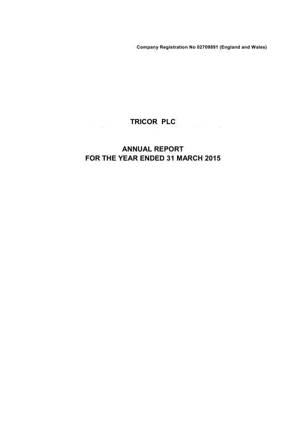Tricor Plc   annual report