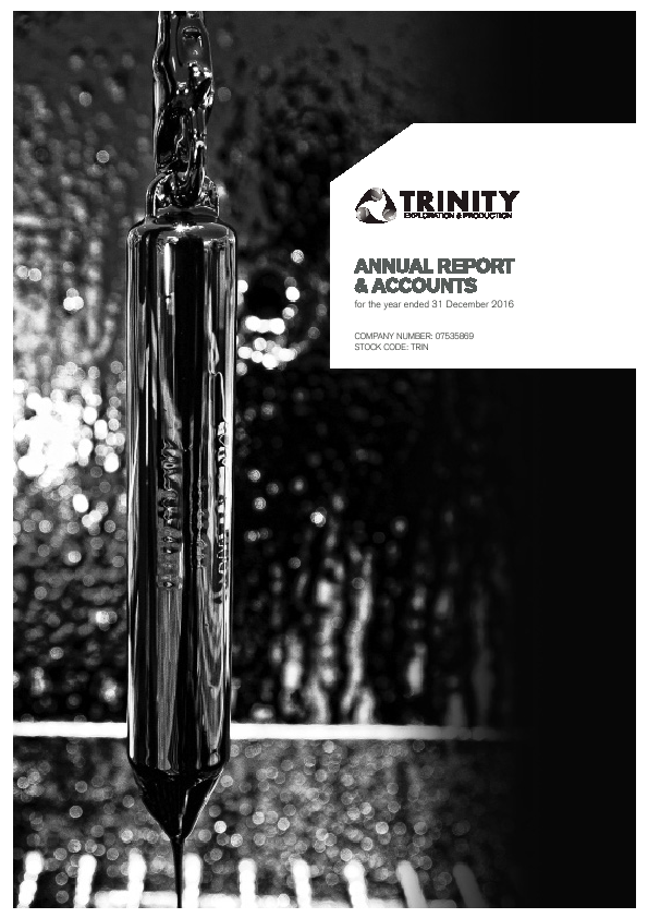 Trinity Exploration & Production   annual report
