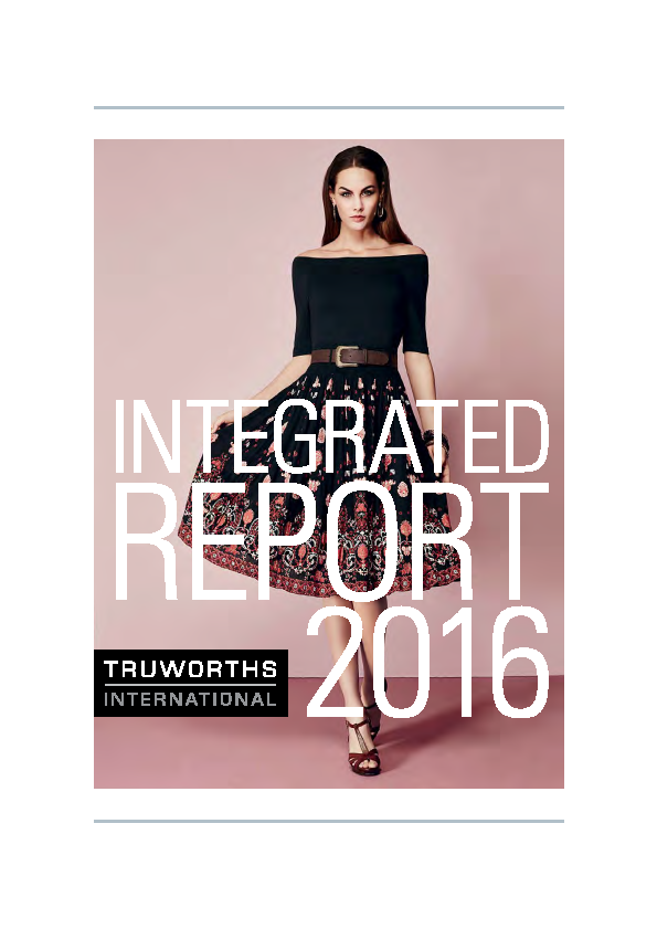 Truworths International   annual report