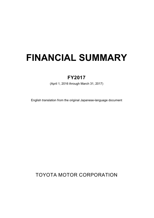 Toyota Motor Corp   annual report