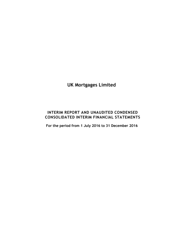 UK Mortgages   annual report