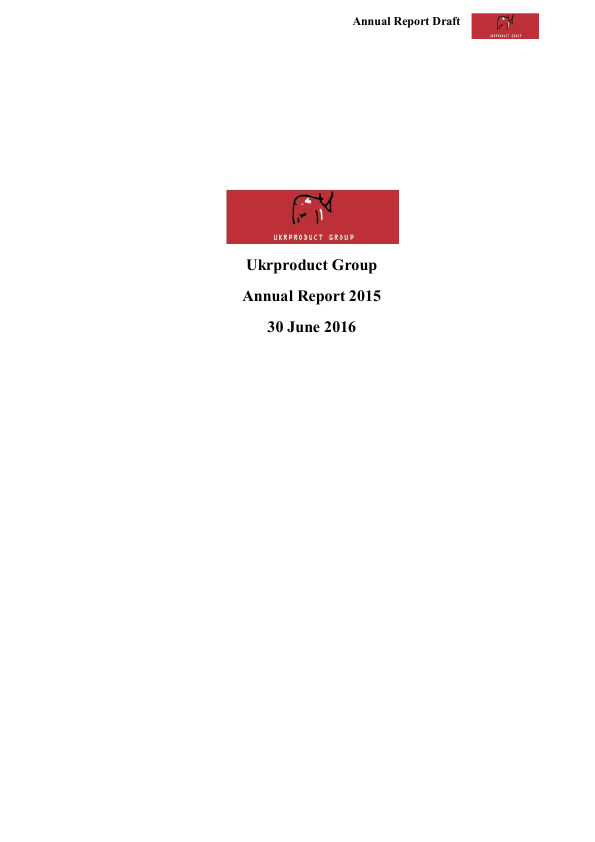 Ukrproduct Group   annual report