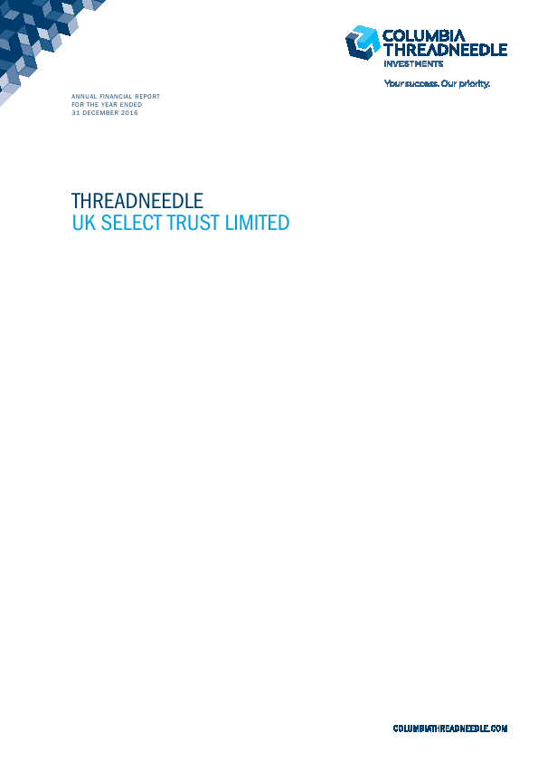 Threadneedle UK Select Trust   annual report
