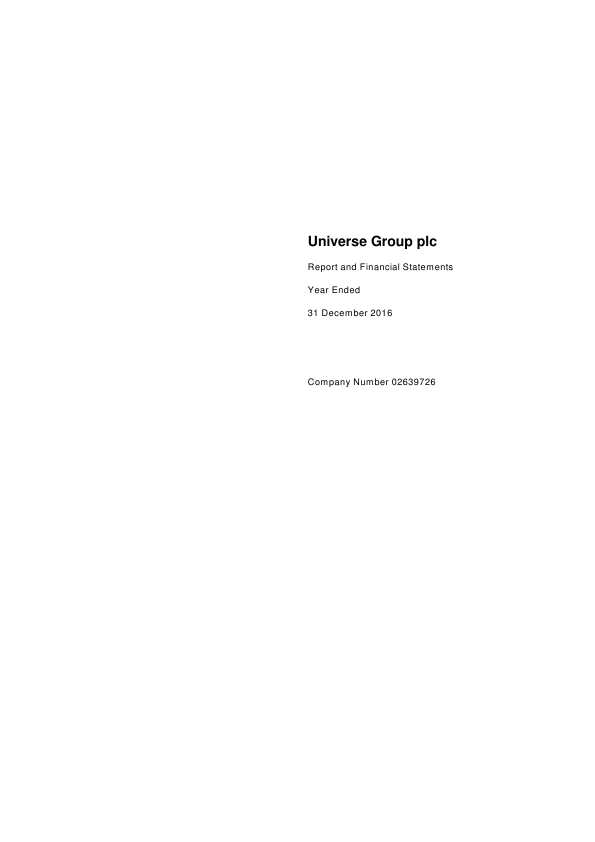 Universe Group   annual report