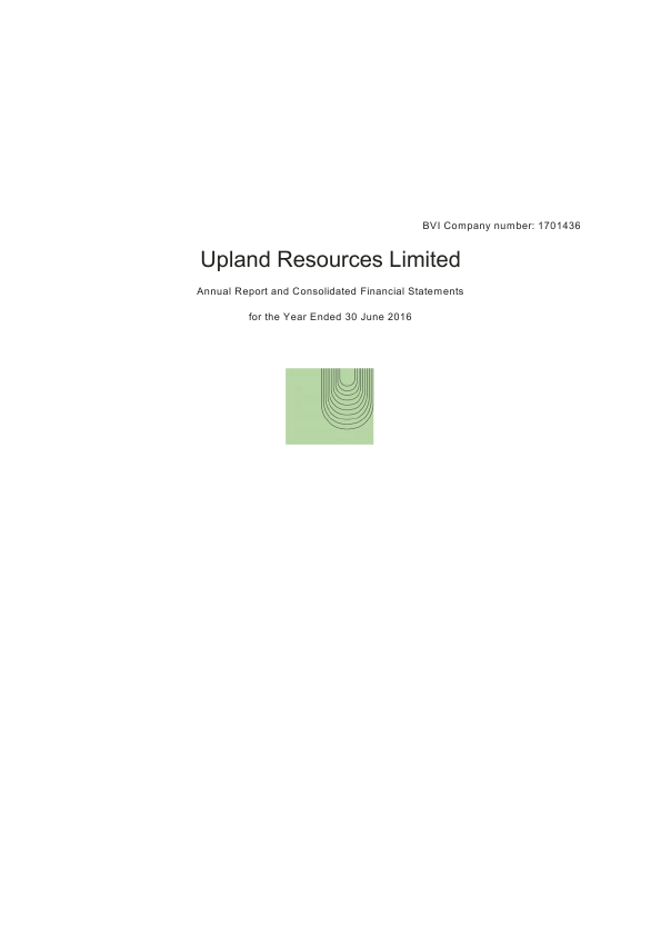 Upland Resources   annual report