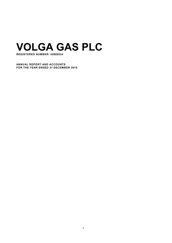 Volga Gas Plc   annual report