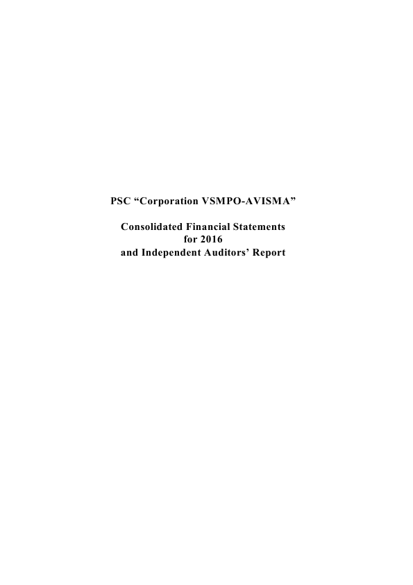 VSMPO-AVISMA Corporation   annual report