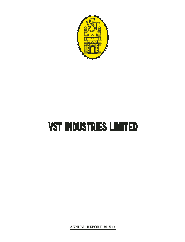 VST Industries   annual report