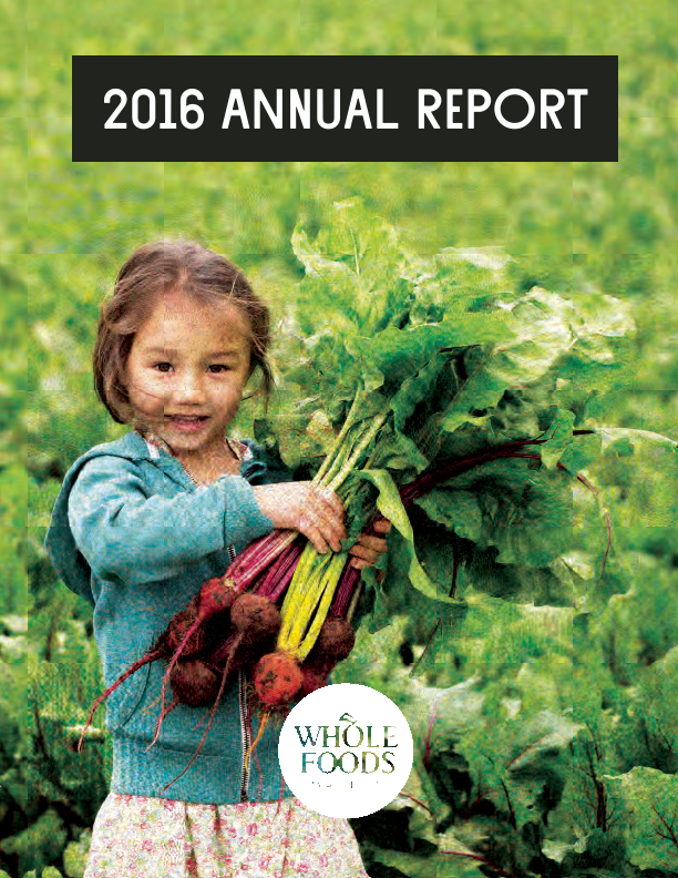 Whole Foods Market, Inc.   annual report