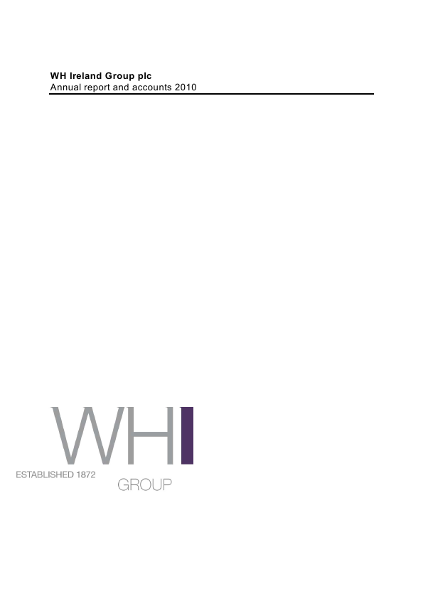 W.H.Ireland Group   annual report