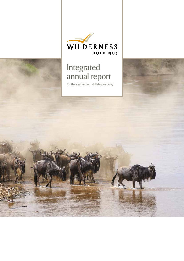 Wilderness Holdings   annual report