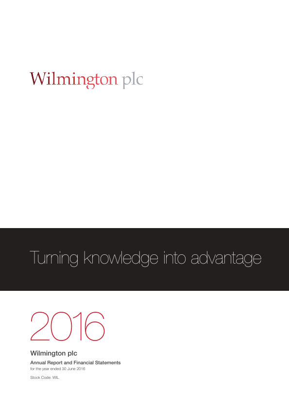 Wilmington Plc   annual report