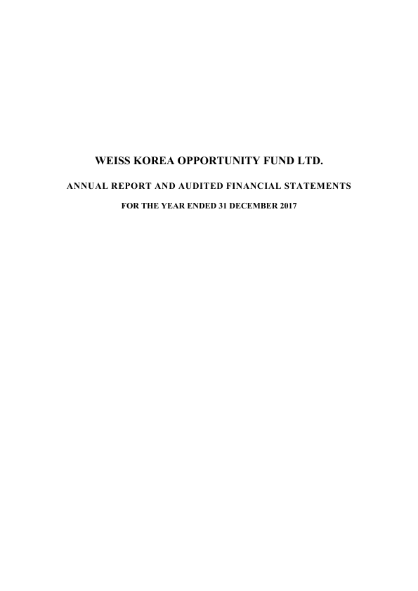 Weiss Korea Opportunity Fund   annual report