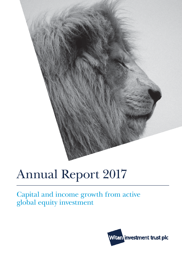 Witan Investment Trust   annual report