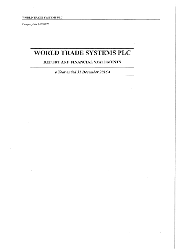 World Trade Systems   annual report