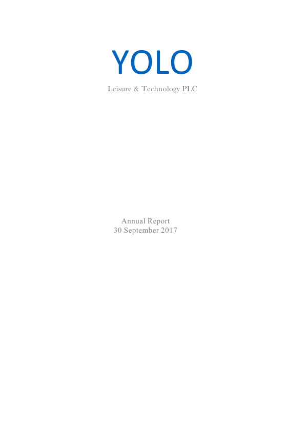 Yolo Leisure & Technology Plc   annual report