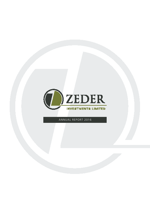 Zeder Investments Limited   annual report