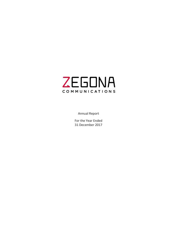Zegona Communications Plc   annual report