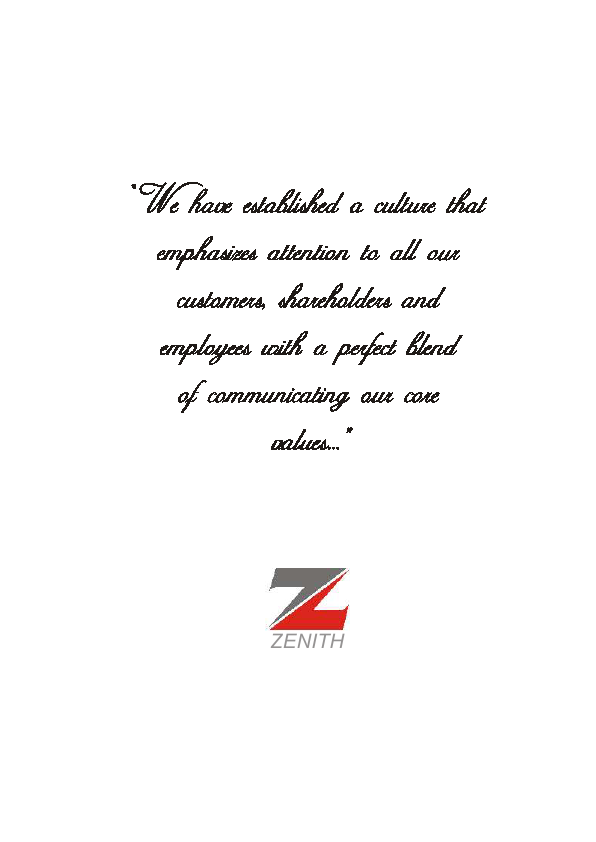 Zenith Bank   annual report