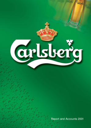 Carlsberg annual report 2001