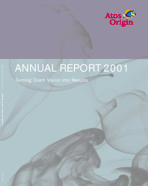 Atos annual report 2001