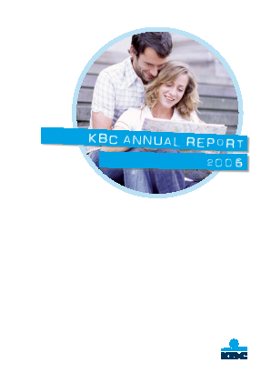 KBC Group annual report 2006