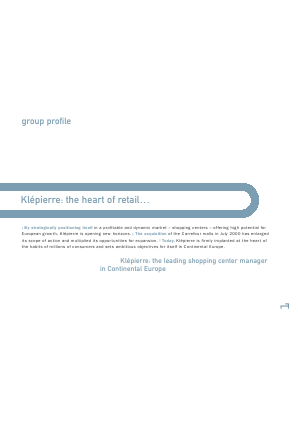 Klepierre annual report 2001
