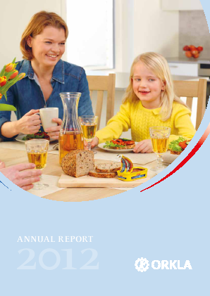 Orkla annual report 2012