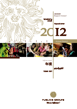 Publicis Groupe annual report 2012