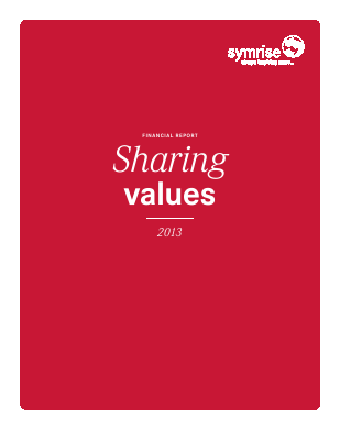 Symrise annual report 2013