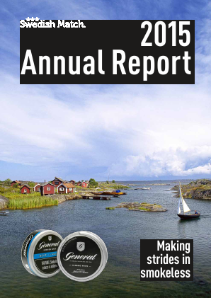 Swedish Match annual report 2015