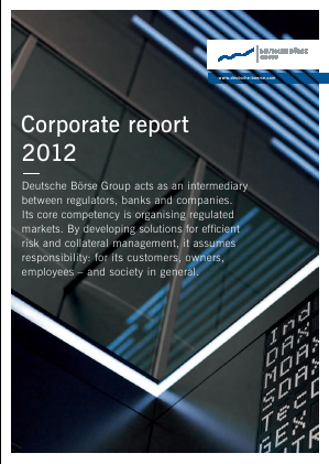 Deutsche Boerse annual report 2012